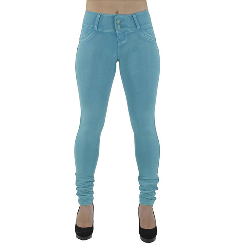 Sexy Push Up Leggings, Women's Denim Leggings, Casual Elastic Jeggings 3