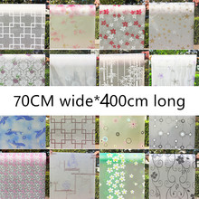 70cm wide*400cm long translucent opaque glazed paper frosted glass stickers window stickers bathroom shade windows painted