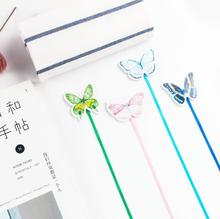 Novelty Long Tail Cute Colorful Butterfly Magnet Bookmark Paper Clip School Office Supply Escolar Papelaria Gift Stationery