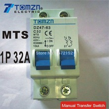 1P 32A MTS Manual transfer switch Circuit breaker MCB 50HZ/60HZ 400~