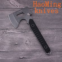 Multifunction 440A steel Camping Survival Axe Tomahawk Black G10 handle Outdoor Hunting Axe Hand Tools Fire Axe Ice Hatchet Axe