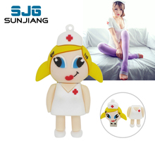 Fashion Carton sexy Nurse Pen Drive Pendrives 4GB 8GB 16GB 32GB 64GB Usb Flash Drive U Disk Flash Card Memory stick gift girl(China)