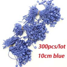 300pcs/lot hang tag string dark blue 10cm garment hang tag cord for stringing hangtag seal tag