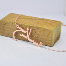 Custom Arabic Necklace 925 Solid Silver Arabic Name Necklace Personalized Any Name Rolo Chain and Box Chain