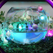 1.2/1.5/5/10m Lights fairy lamps Rattan Ball Led string light night Christmas Xmas lantern Wedding Garland curtain Decoration(China)