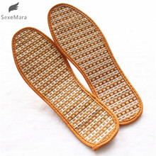 SexeMara  Men And Women Hand-Woven Bamboo Charcoal Linen Insoles Sports Breathable Anti-Bacterial Insoles Comfortable Insoles