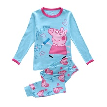 free shipping 2016 new design 100% cotton high quality pyjamas kids(Hong Kong)