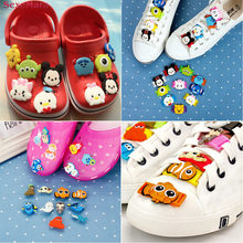 Mix Models 8-15pcs High Quality Cool Lovely Cartoon PVC Shoe Charms Tsum/Finding Nemo/Pets Shoelaces Decorations Fit Kids Gifts