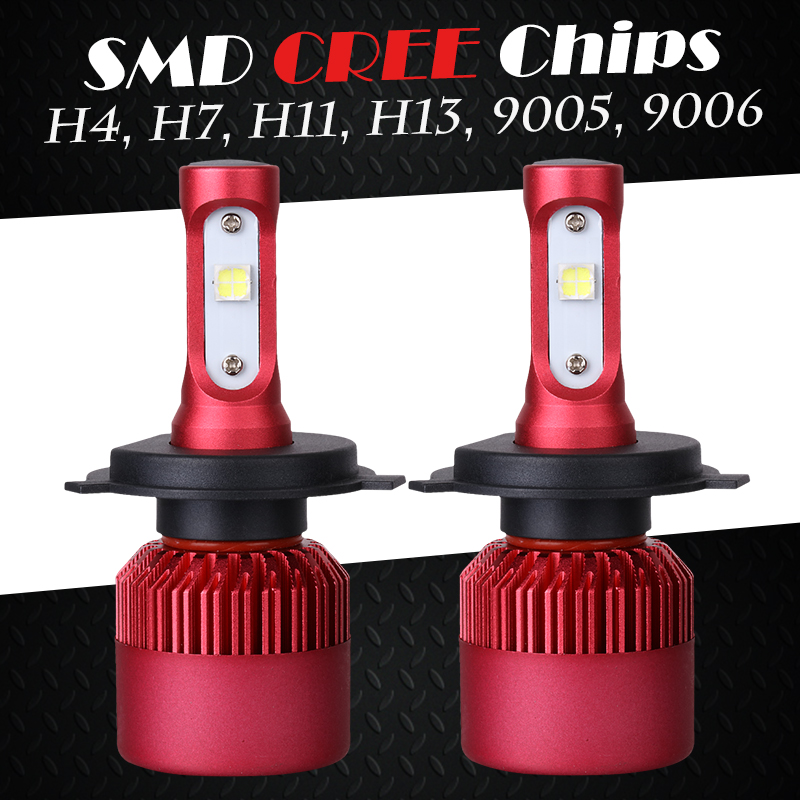 Oslamp SMD CREE Chips 9006/HB4 9005/HB3 Led Headlight Kits Automobile H4 H13 Car Bulbs + Cooling Fan H7 H11 All-in-one Fog Lamps<br><br>Aliexpress