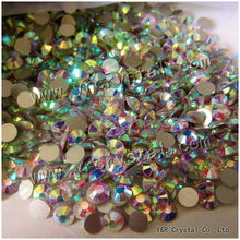 YANRUO #2028NoHF All Sizes AB Glass Strass Stones And Crystals Nail Art No Hotfix Crystal Glue On Flatback Rhinestone For Nails