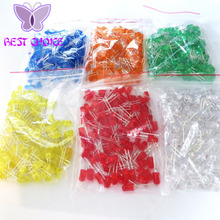 600pcs/lot 5MM LED diode Light Assorted Kit DIY LEDs Set White Yellow Red Green Blue Orange