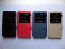 For Leagoo M8 case open window flip leather cell phone protect shell for Leagoo M8 sets(China)