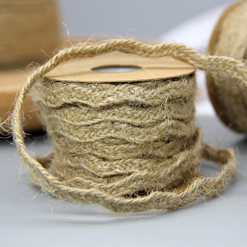 6mm*5M Natural Jute Twine Burlap String Hemp Rope Party Wedding Gift Wrapping Cords Thread DIY Scrapbooking Florists Craft Decor 1