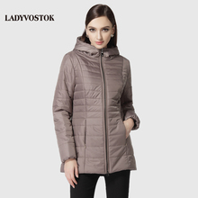 Buy LADYVOSTOK female coat long paragraph leisure fashion hat zipper comfortable female cotton clothing R4056 for $101.40 in AliExpress store