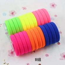 Diameter 4cm 24pcs/pack Elastic Hair Rubber Bands Baby Girls Kids Children Hair Accessories Rope Headwear kk1516(China)