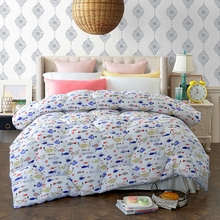 Cheap 100% Polyester Winter Quilt Lovely Cartoon Fishes and Stars Printed Cozy and Soft Comforter for Home Design for Adults(China)