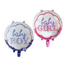 July Forest New Baby 18 Inches Lace Foil Balloons Birthday Balloon Baby Girl Boy One Year 1st Birthday Party Globos Toy Baby(China)