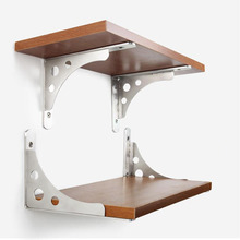 Thick stainless steel Triangle Shelf bracket Universal Up & Down brackets Load bearing rack support 30CM Long X2
