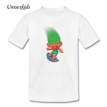 Trolls T-shirts Boy Girl Funny Picture Short Sleeve 100% Cotton Tee Shirts Baby Kids Costume Top Printed T Shirts For Toddler