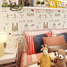 beibehang wall paper. Pune British children's room girl room Ferris wheel import pure paper wallpaper backdrop bedroom bedside(China)