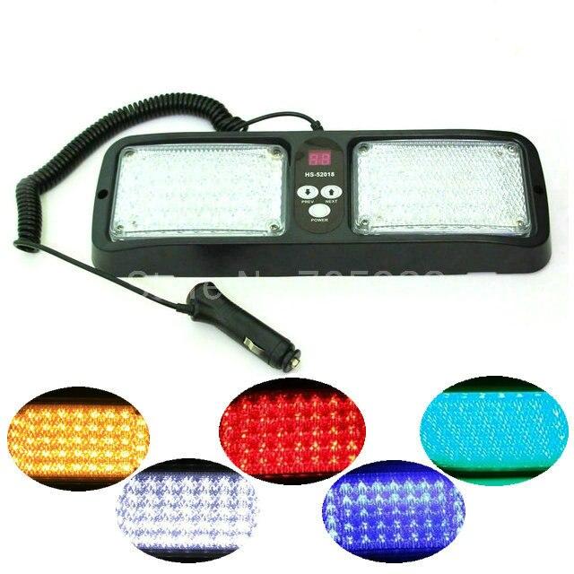 86 LED warning lights White/yellow/blue/red Emergency light Vehicle Car Truck Visor Strobe Lights Flash light<br>