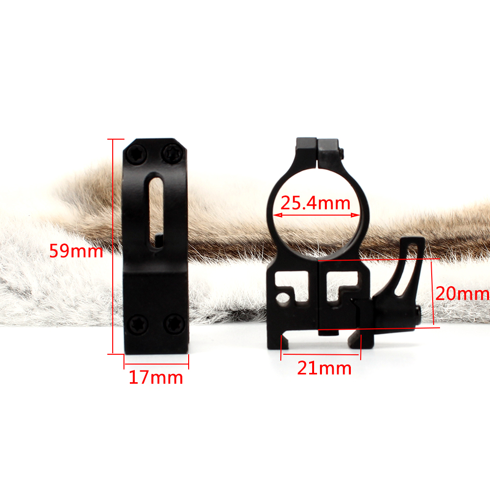 ohhunt 25.4mm 1 inch 2PCs High Profile Cast Steel Quick Release Picatinny Weaver Scope Mounts Rings Tactical Hunting Accessories (9)
