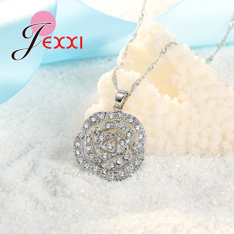 JEXXI-Classic-Rose-White-Women-Jewelry-Sets-Silver-Color-Pendant-Earrings-And-Necklace-Jewelry-Sets-High (2)
