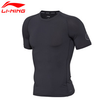 Li-Ning Men's Wade ATDRY T-shirt Short Sleeve Breathable 73% Polyester 27% Spandex LiNing Sport T-shirt AUDM031 MTS2661(China)