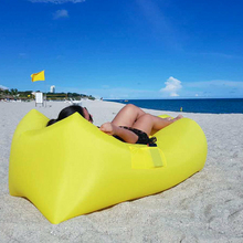 190T Banana Shape Beach lay bag Hangout sleep Air Bed Lounger laybag Outdoor fast folding sleeping inflatable air sofa lazy bag