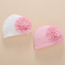 0-8 Months Spring Autumn Newborn Baby Girl Hats Caps With Flower Knitted Crochet Baby Hat Accessories Headband Beanies Patterns
