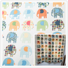 50x150cm Elephant Cotton Fabric Cloth DIY Handmade Sewing Patchwork Home Sofa Curtain Table Car Cushion Kids Bedding Textile