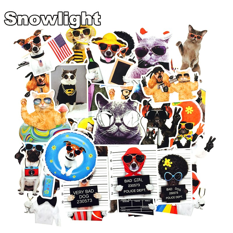 38PCS Colorful Waterproof Sticker Spoof  Animal Cartoon Game Stickers for DIY Skateboard Guitar Suitcase Laptop Bicycle Stickers