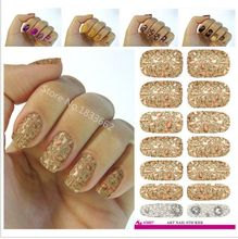 2017 Real V627 Water Transfer Nail Art Stickers Metallic Petals Gem Pearl Series Decor Decal Manicure Styling Tools Foil Decals