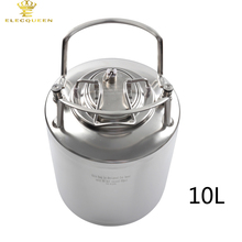 10L Stainless steel Ball Lock Cornelius Style Beer OB Keg With Newest and High Quality Metal Handles(China)