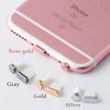Metal Alloy Earphone Jack Anti Dust Plug Ear Earphone Cap for iPhone 7 Pluggy 6 6S Plus 5 5S SE cell Phone Headphone Plug(China)