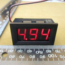 1pcs Digital Voltmeter 4.5-30v / DC 4.5V to 30V Digital Voltmeter Voltage Panel Meter For 6V 12V Electromobile Motorcycle Car