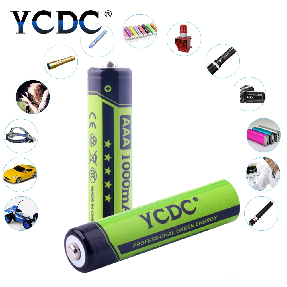 YCDC 4pcs 18650 AA AAA Battery 3.7V 1.2V Rechargeable Li-ion Ni-MH Battery for Led Flashlight Battery Litio Battery Wholesale(China)