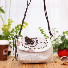Free Shipping !Top-quatity New National type handbag cute Lady casual carry bag shoulder phone/makeup bags(China)