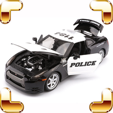 New Arrival Gift GTR R35 1/18 Model Metal Car Collection Police Version Vehicle Simulation Toys Cars Decoration Special Present(China)