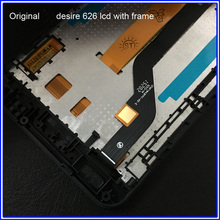 Original New LCD Screen For HTC Desire 626g LCD Display Touch Screen Digitizer With Frame