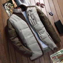 Free shipping Men's Down Jacket Parka Winter Long Sleeve Thicken Hooded Warm Men Down Coat Hooded Mens Clothes