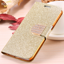 KISSCASE For Samsung S6 Edge Plus Case Bling Diamond Glitter Leather Cover For Samsung Galaxy S6 S7 edge Case Wallet Phone Bag