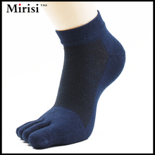 Summer New Product Short Tube Exquisite Quality Four Colors For Choose Mesh Man's Ankle 5 Toe Socks(China)