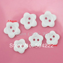 600pcs mix sizes medium white resin smooth touch little sun flower Buttons sewing craft diy buttons 15-18mm(China)