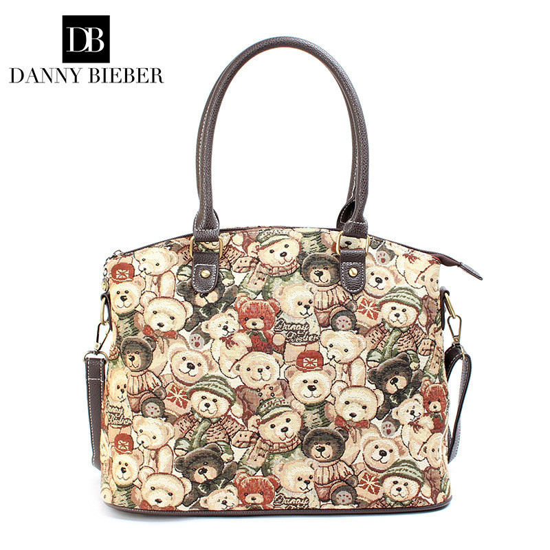 DANNY BIEBER Women  Shoulder Bag Fashion  Ladies High-grade tapestry canvas messenger bags<br>