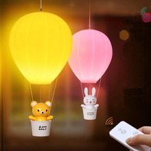YIMIA Cartoon Bear Rabbit USB Charging Hot Air Balloon LED Night Light Baby Bedroom  touch remote control timing led lamp lights