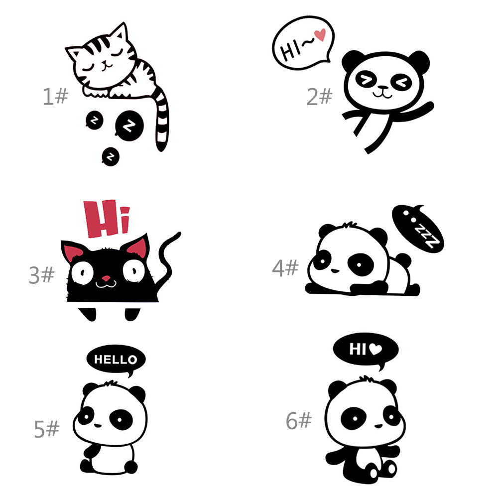 HTB1vtLBo2DH8KJjy1Xcq6ApdXXaz - DIY Cute Cat Panda Switch Sticker