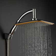 Free shipping 9 inch ABS Bathroom Railfall Shower Head ,Water Saving ,Extension Shower Arm,Hose and Holder TH57