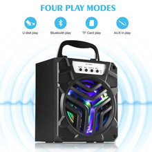 HK-101BT Bluetooth Speaker Stereo Bluetooth 3.0 Loudspeaker USB 3.5mm Audio Port FM Radio Subwoofer with TF Card Slot for iPhone