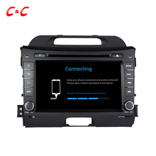 Updated Android 6.0 Car Radio DVD Head Unit for KIA Sportage R with Quad Core 1.6G CPU GPS USB/SD BT 4G WiFi, Audio Video System